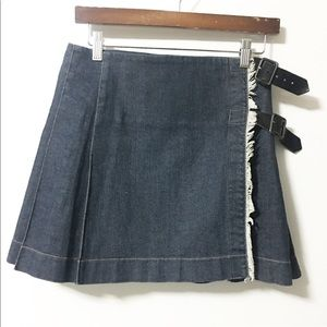 Vintage Burberry denim wrap skirt